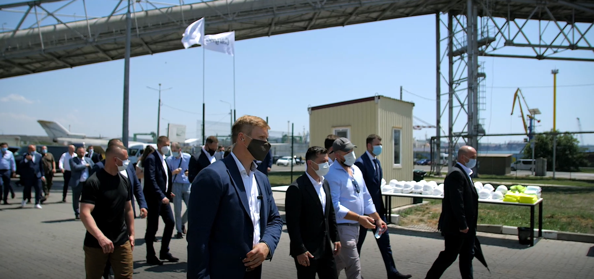 President of Ukraine Volodymyr Zelenskyy Attends Grain Terminal Neptune