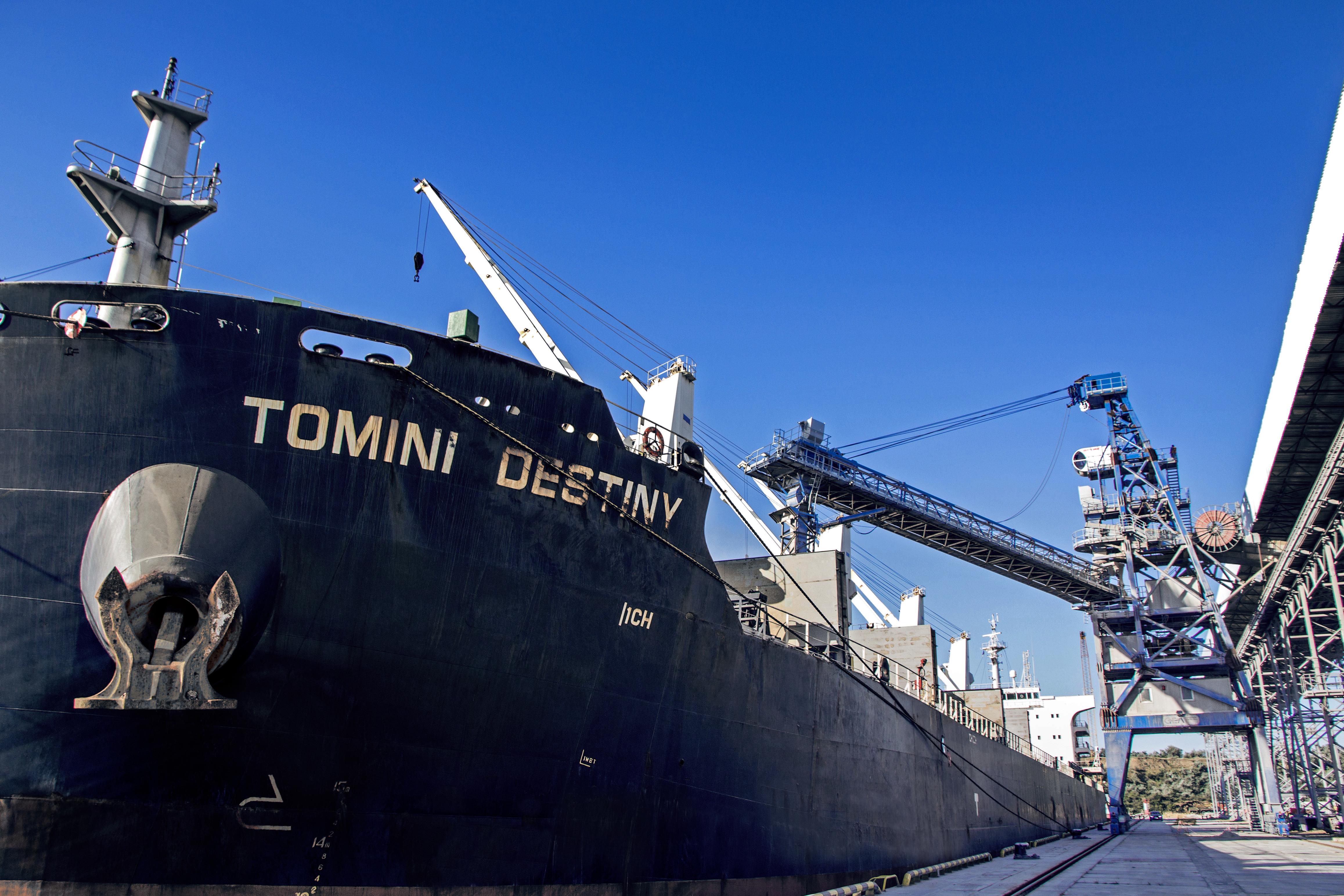 Термінал Neptune завантажив перше судно зерновими нового врожаю